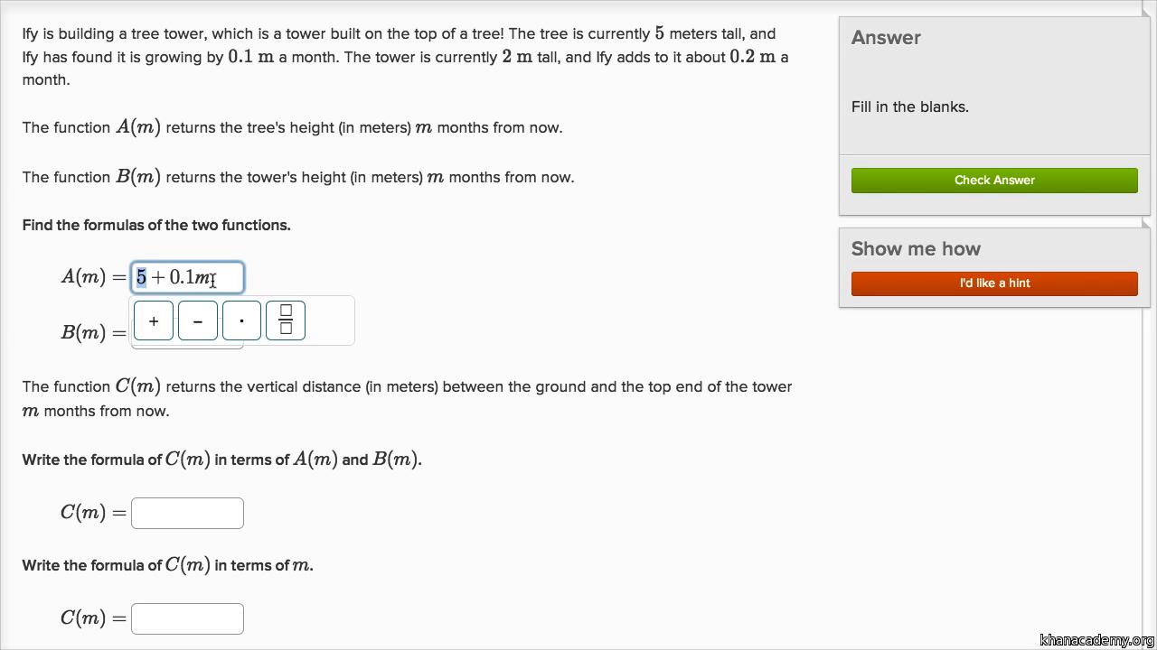 Worksheets Composition Of Functions Worksheet functions algebra ii math khan academy