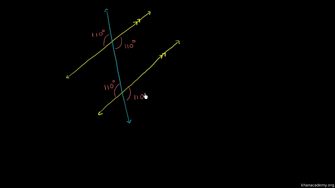 Missing Angles With A Transversal Video Khan Academy