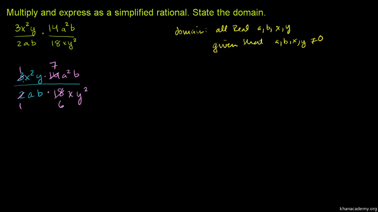 Multiplying rational expressions: multiple variables (video) | Khan Academy