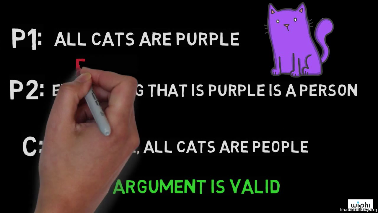 valid argument vs invalid argument