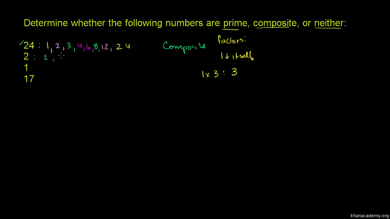 worksheet Odd Even Prime And Composite Numbers Worksheet recognizing prime and composite numbers video khan academy