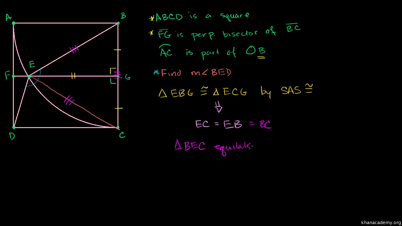 Geometry Proof Problem Midpoint Video Khan Academy