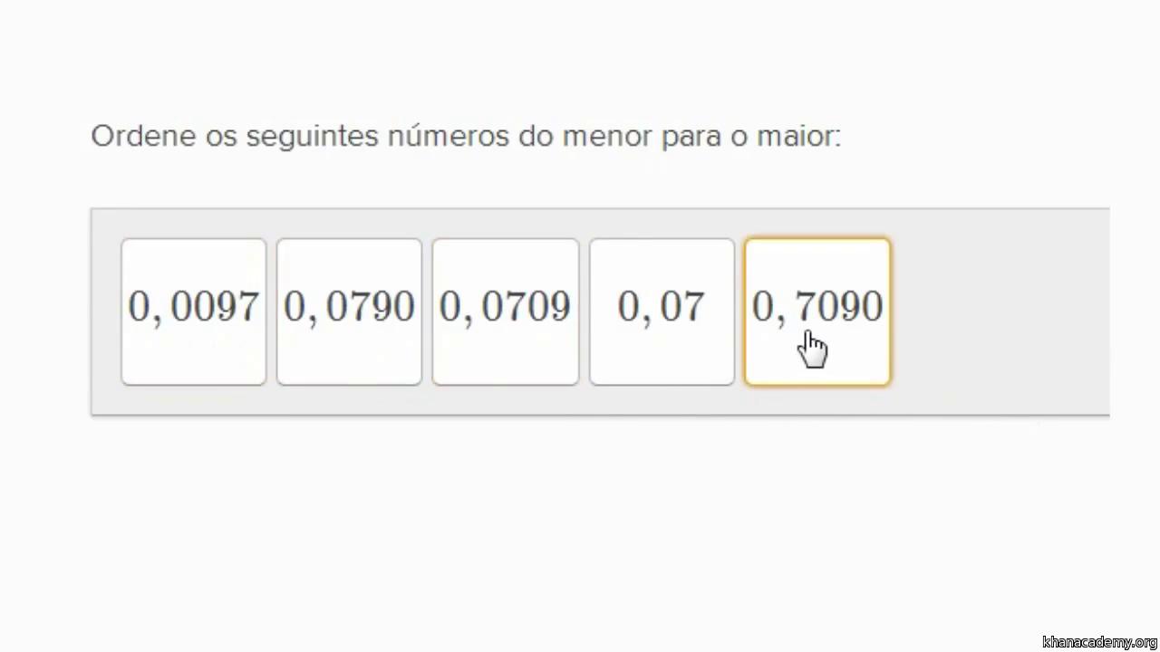Amado Como ordenar números decimais 1 (vídeo) | Khan Academy AH37