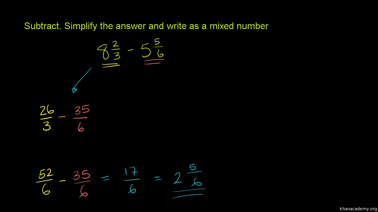 How To Add Fractions That Have Different Denominators (video)  Khan Academy