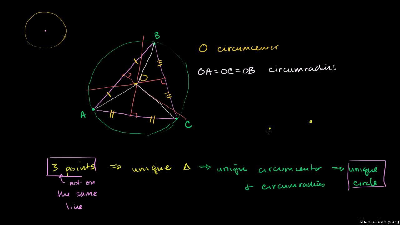 Circumcenter Of A Triangle Video Khan Academy