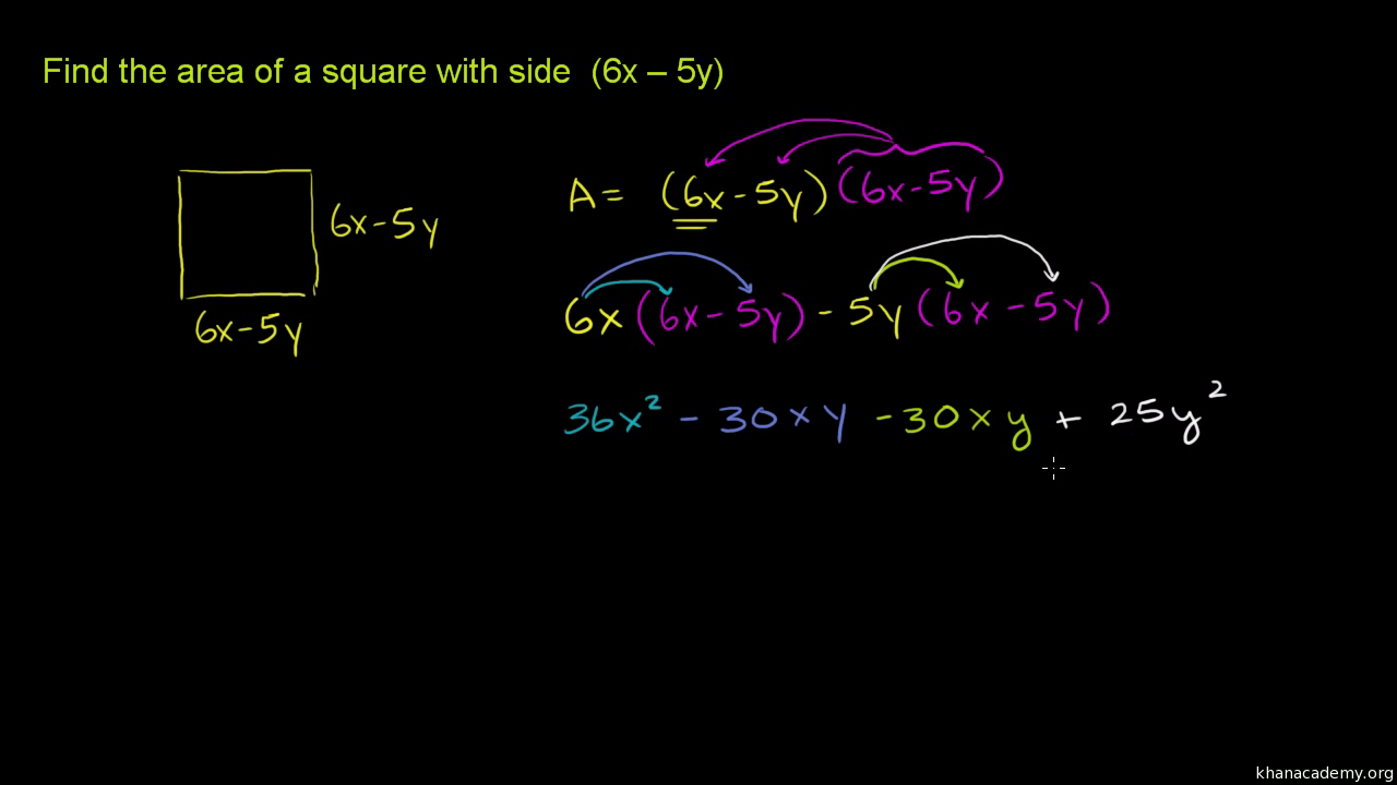Special Products Of Binomials Intro Practice Khan Academy