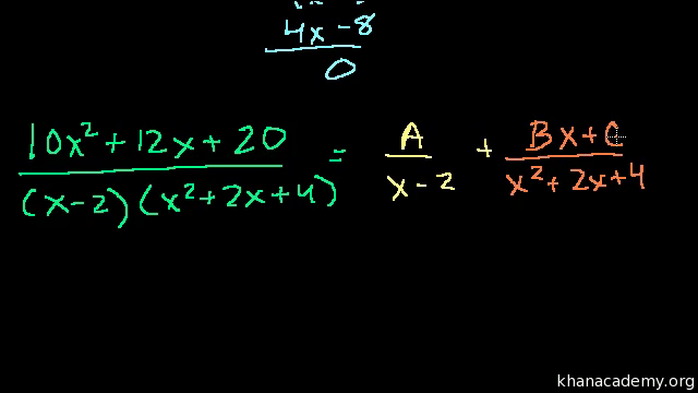 Intro To Partial Fraction Expansion Video Khan Academy