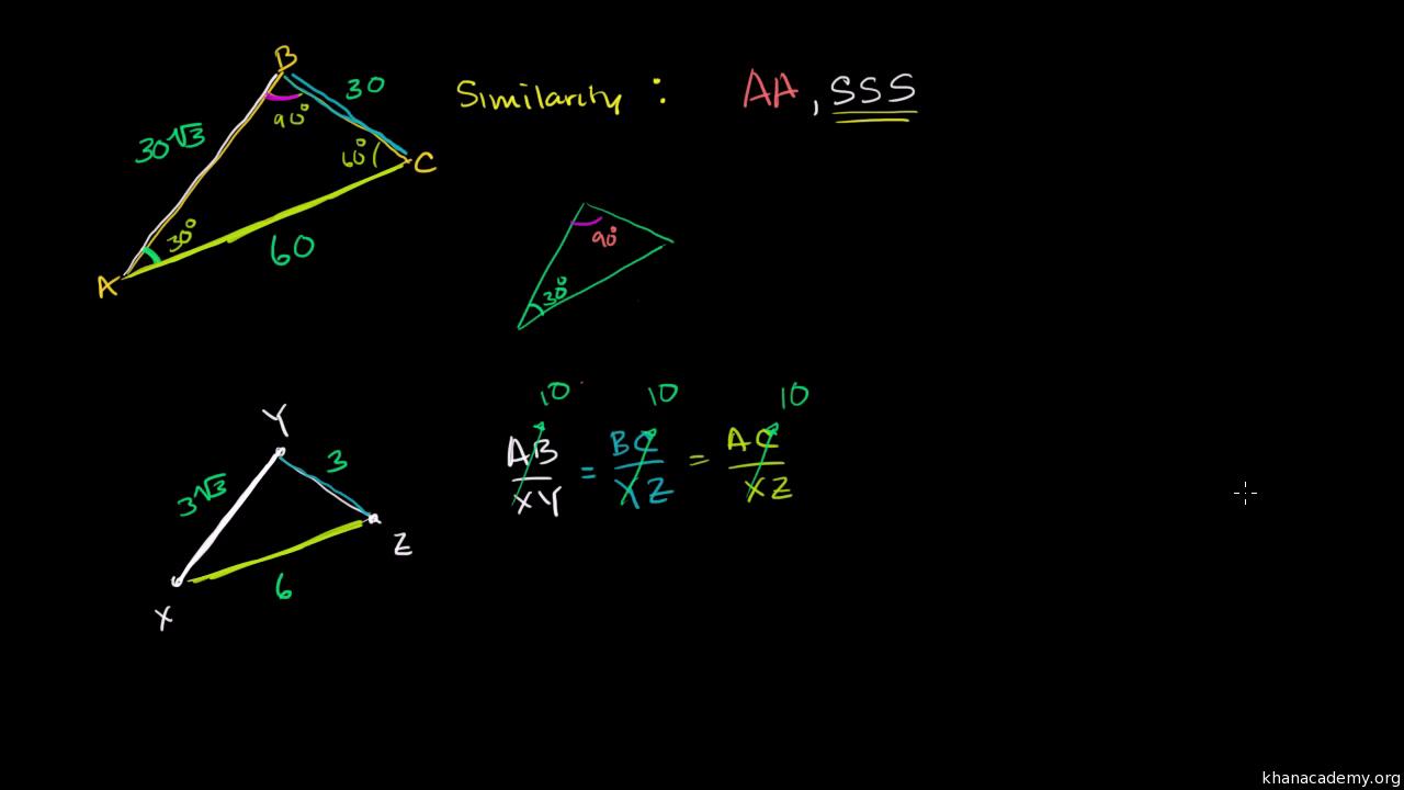 Ähnliche Dreiecke bestimmen: AA (Übung) | Khan Academy