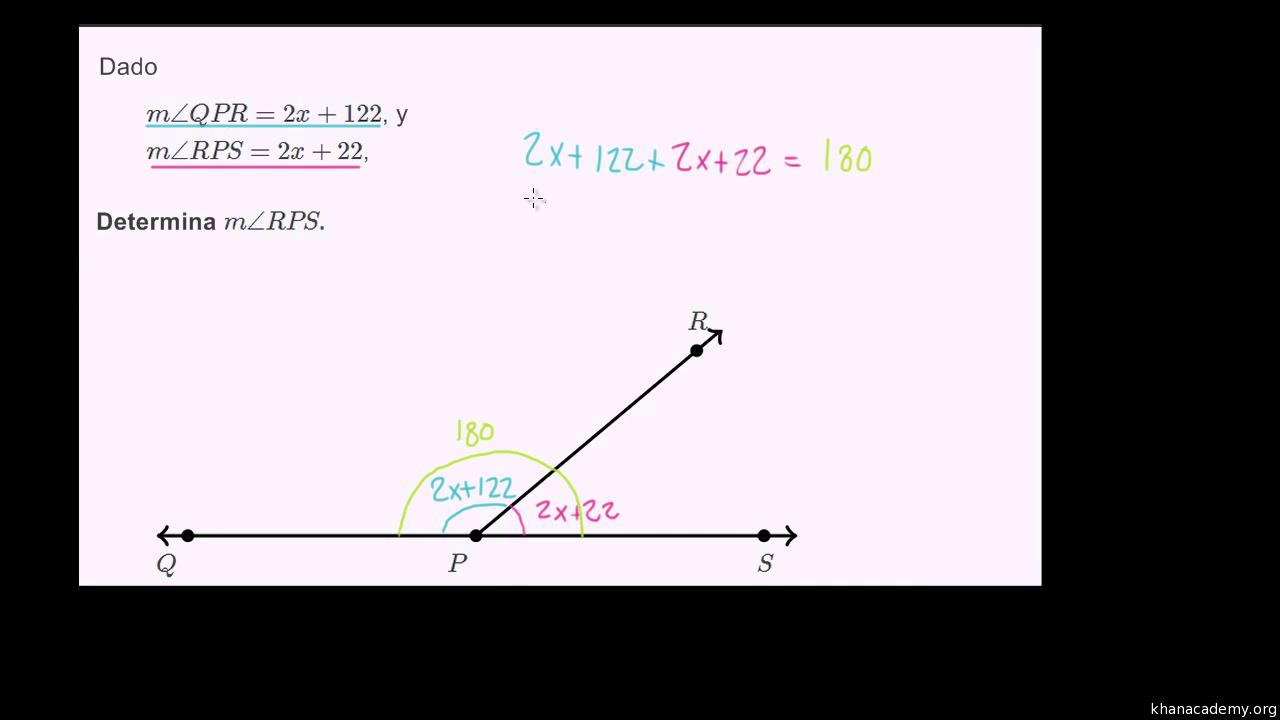 Practica de ecuaciones con ángulos suplementarios (video) | Khan Academy