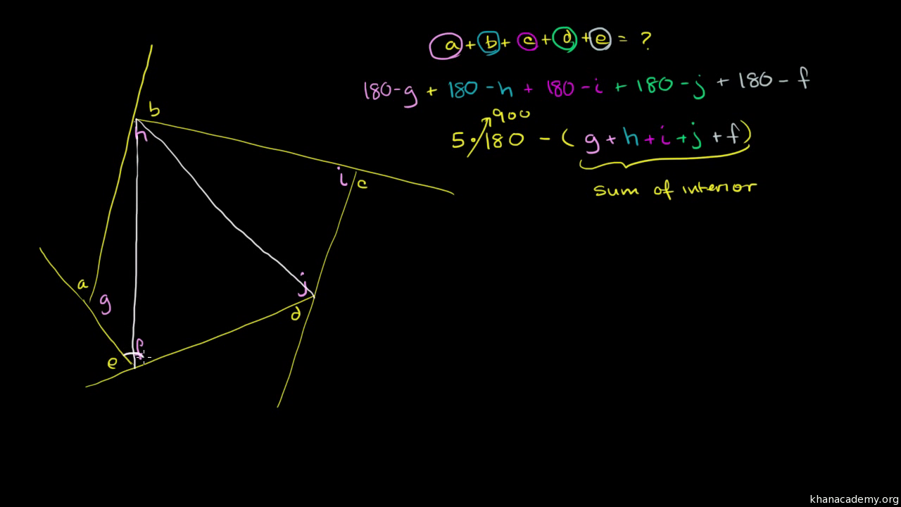 Triangle Angle Challenge Problem Video Khan Academy Lets Take This Diagram For Our 360 Degree