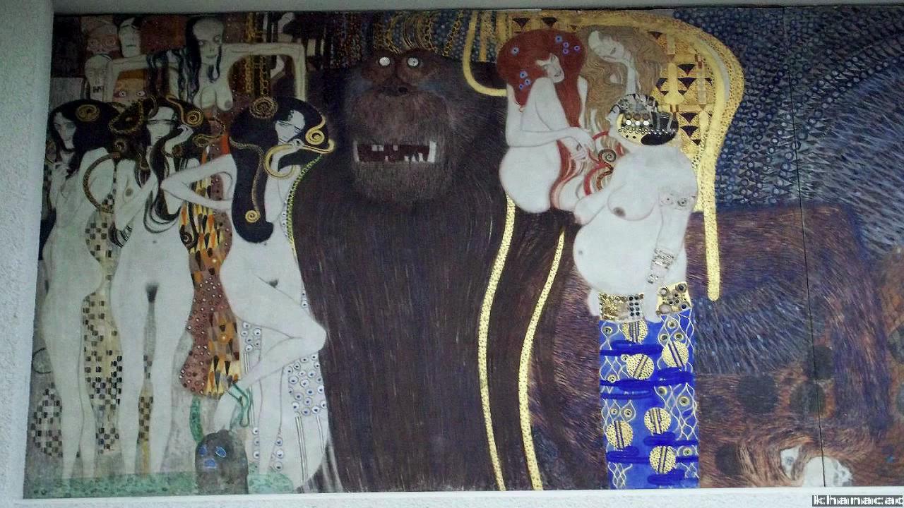 Gustav Klimt, Beethoven Frieze (video)   Khan Academy
