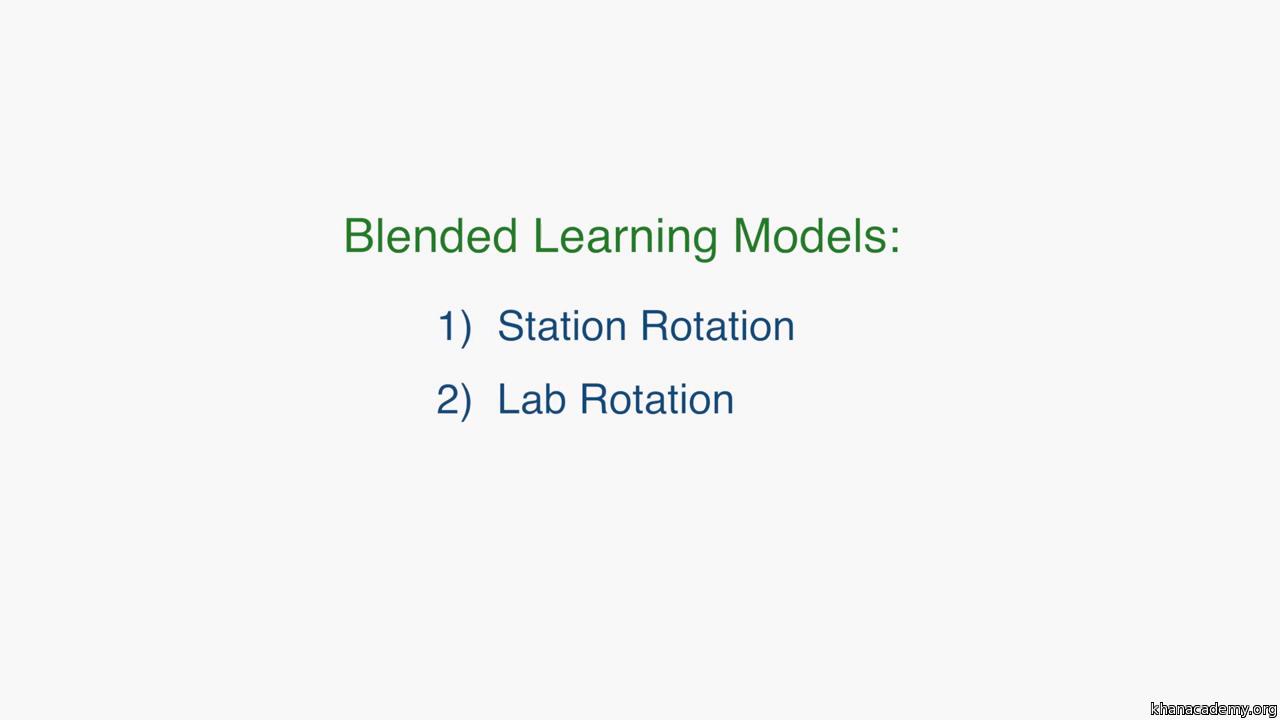 The station rotation model (video) | Khan Academy