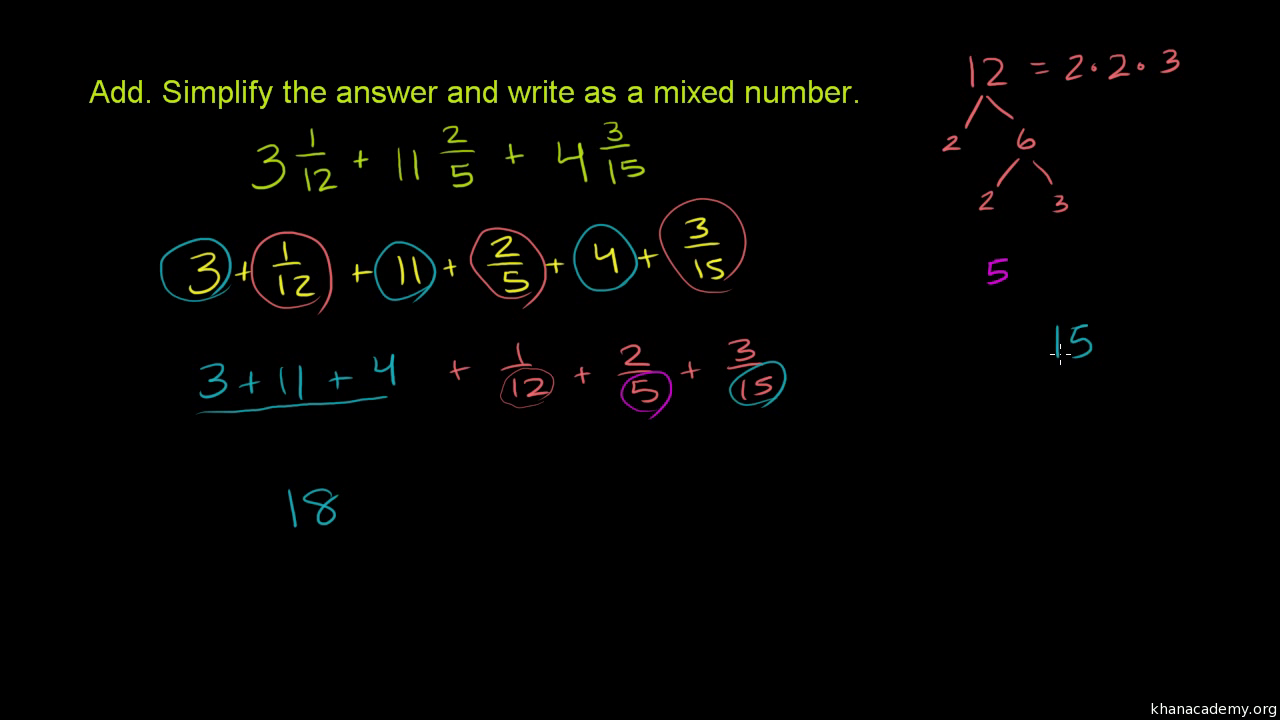 add and subtract mixed numbers with unlike denominators (no