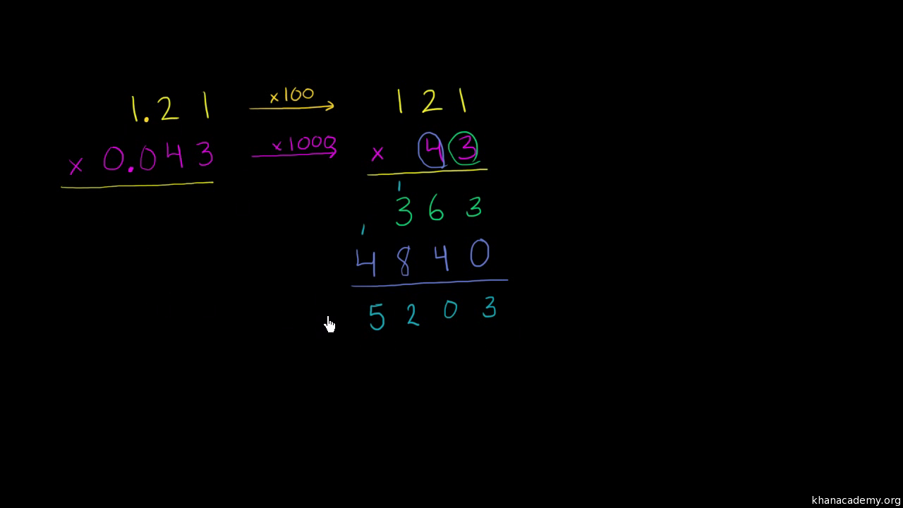 Multiplying Decimals Example Video Khan Academy