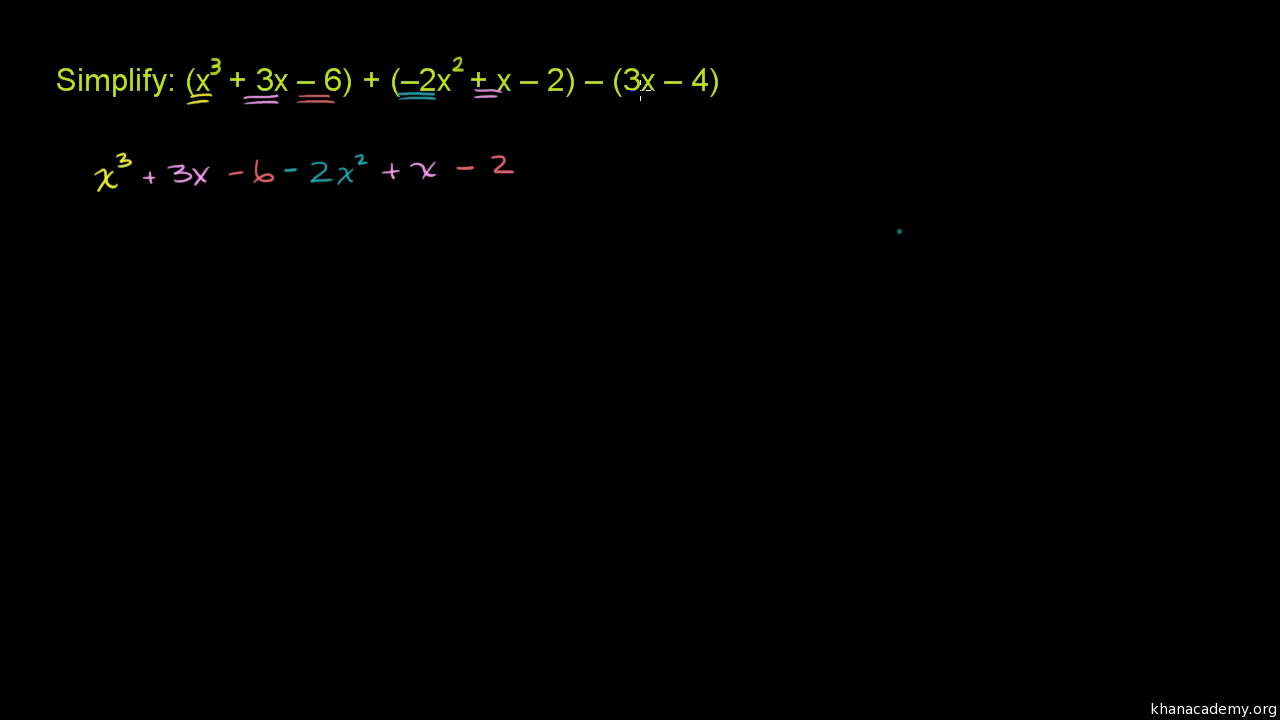 Addiere Polynome (Einführung) (Übung) | Khan Academy