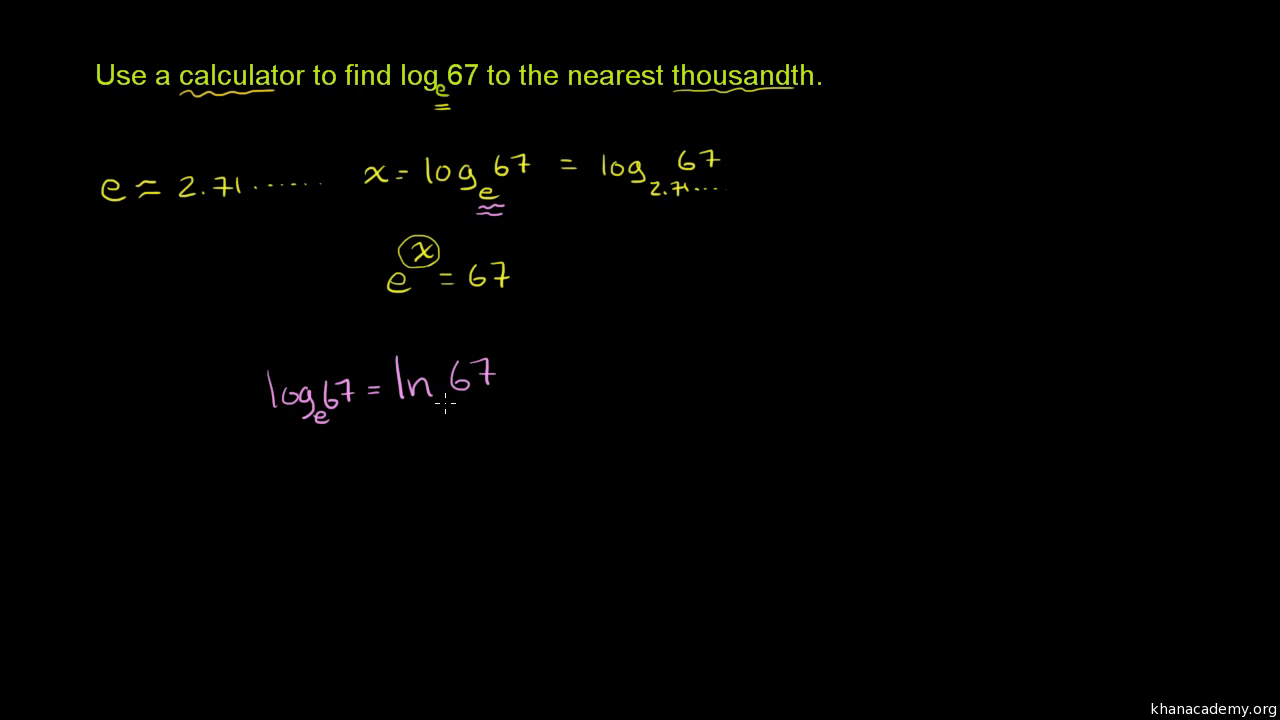 Evaluating natural logarithm with calculator (video) | Khan Academy