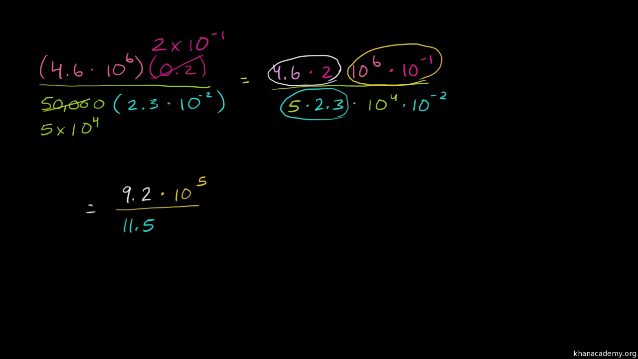 Subtracting in scientific notation video khan academy falaconquin
