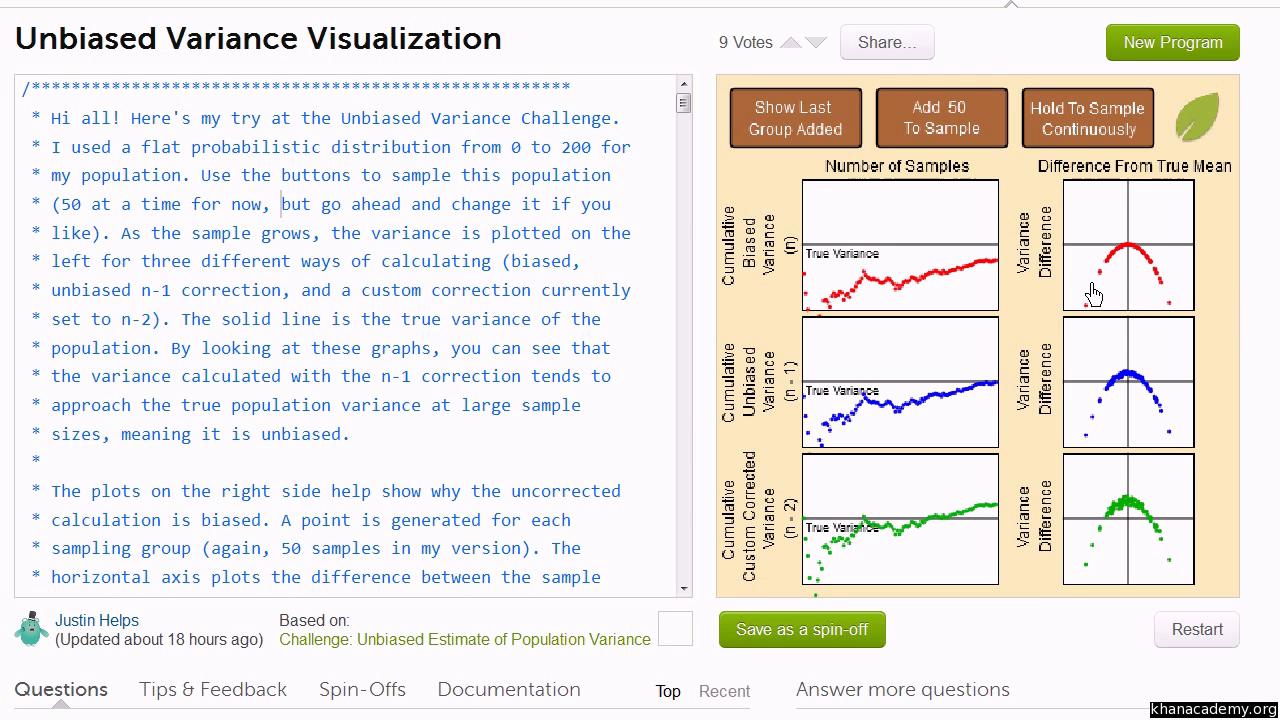 Statistics: Sample variance (video) | Khan Academy