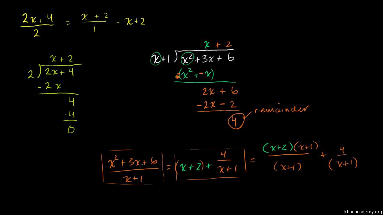 Einführung in die schriftliche Polynomdivision (Video) | Khan Academy