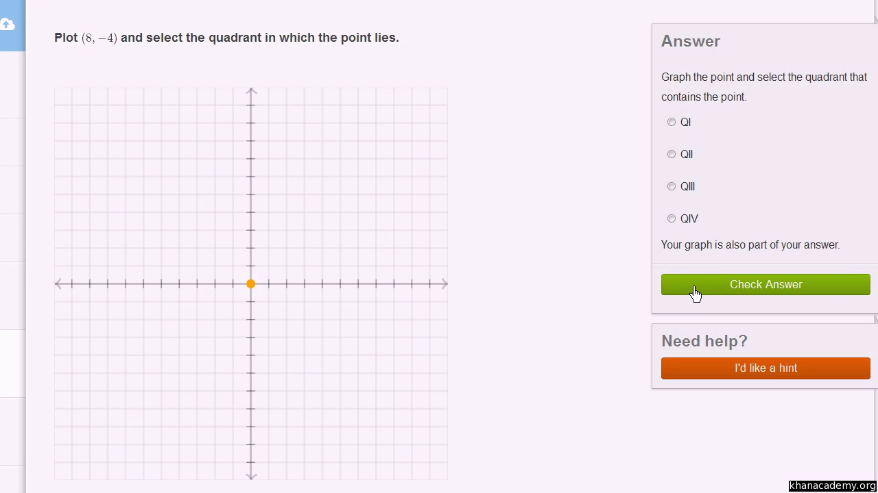 worksheet Quadrants Graph quadrants of the coordinate plane video khan academy