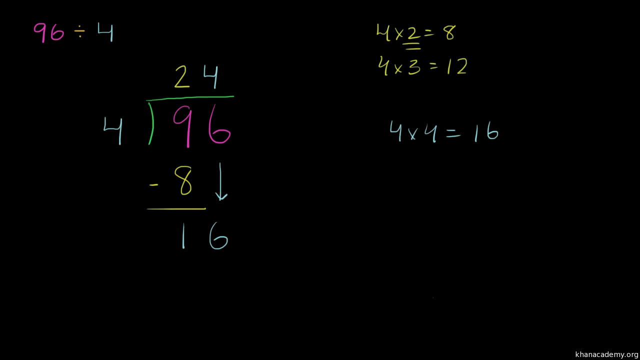Worksheet How To Divide By 1 3 long division video khan academy