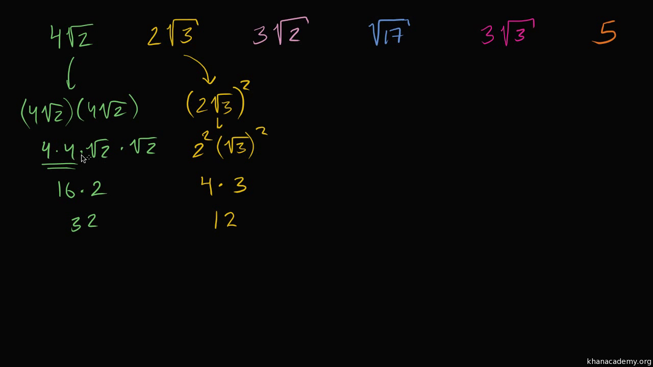Approximating Square Roots Video Khan Academy
