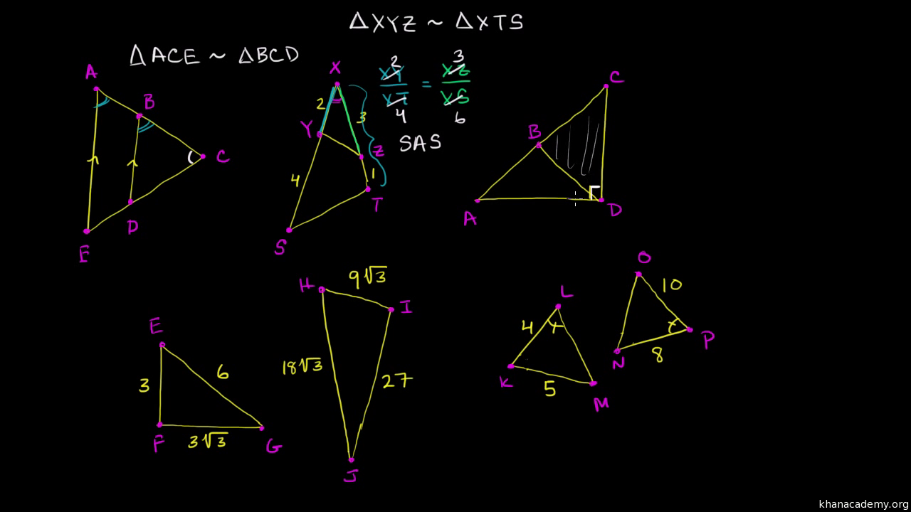 worksheet Congruent Triangles And Similar Triangles Worksheet Answers intro to triangle similarity video khan academy