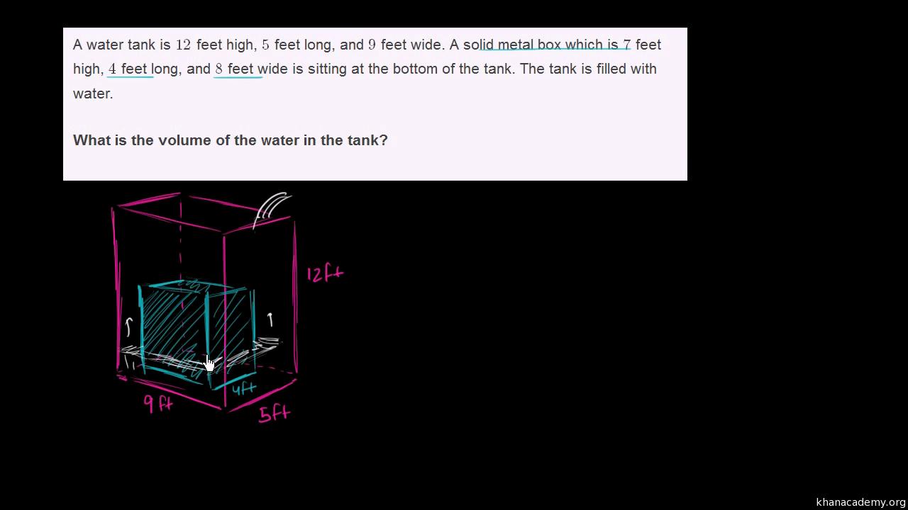 Textaufgaben zum Volumen (Übung) | Messung | Khan Academy