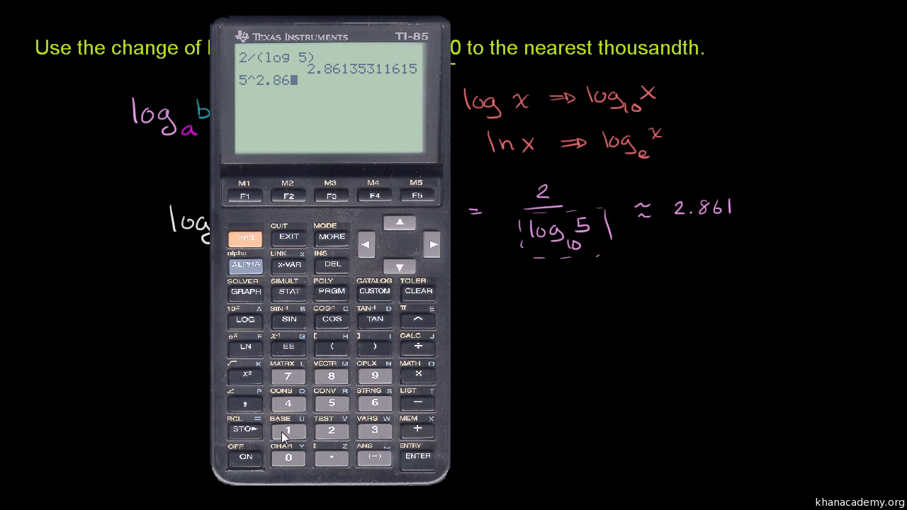 Logarithm equation calculator.