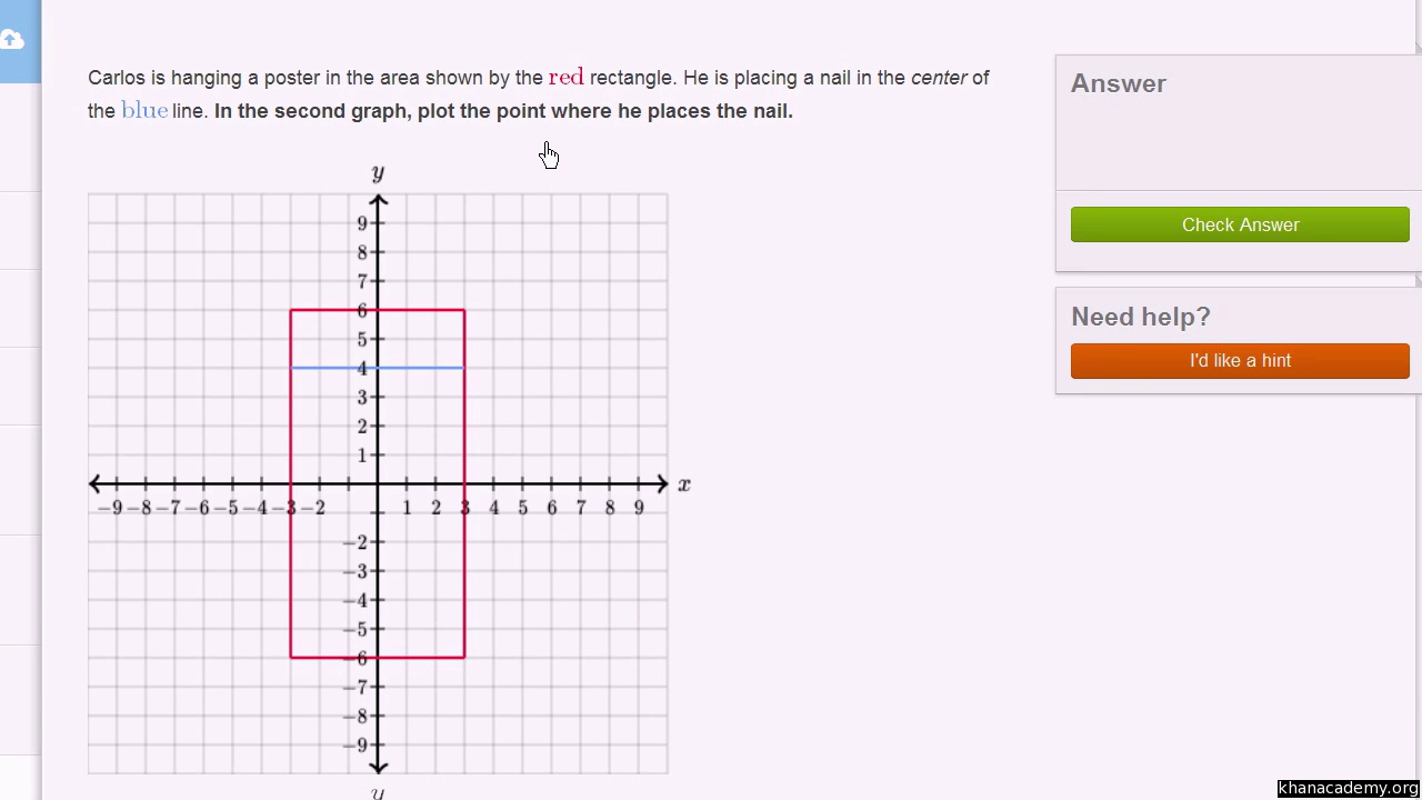 worksheet Single Quadrant Ordered Pairs plotting a point ordered pair video khan academy
