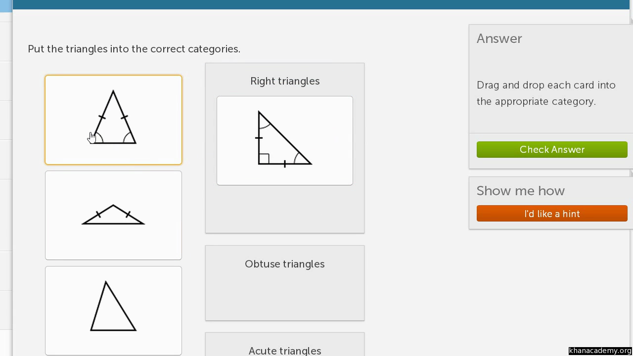 Classifying Shapes By Line And Angles Types Video Khan Academy