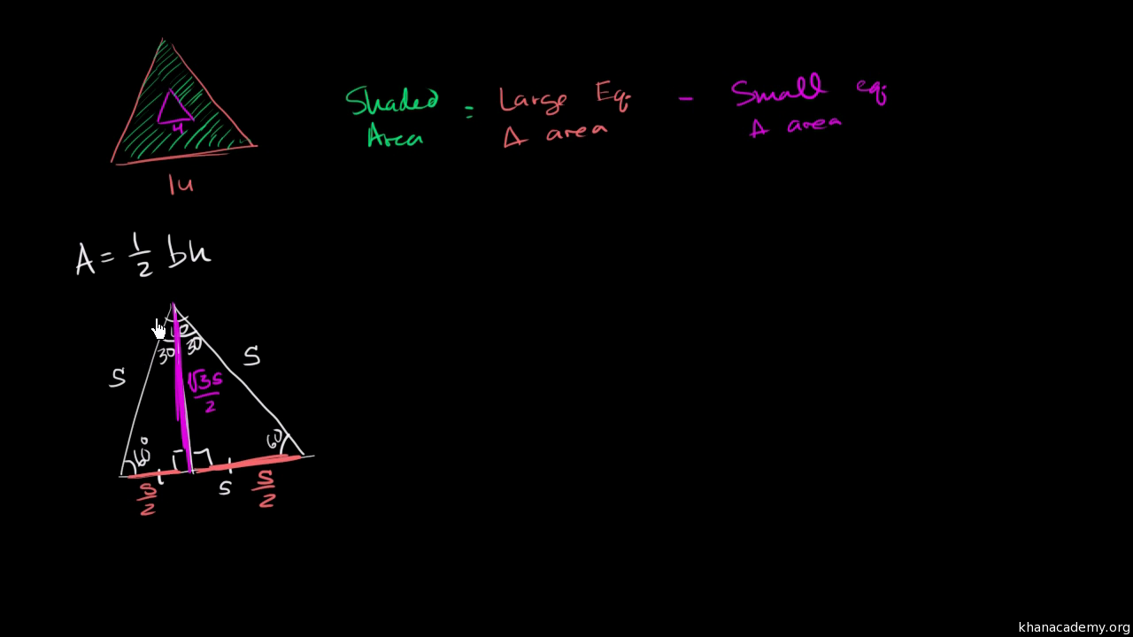Area of equilateral triangle video khan academy ccuart Choice Image