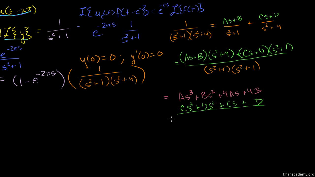 Us Area Codes In Numerical Order%0A Using the Laplace transform to solve a nonhomogeneous eq  video    Khan  Academy