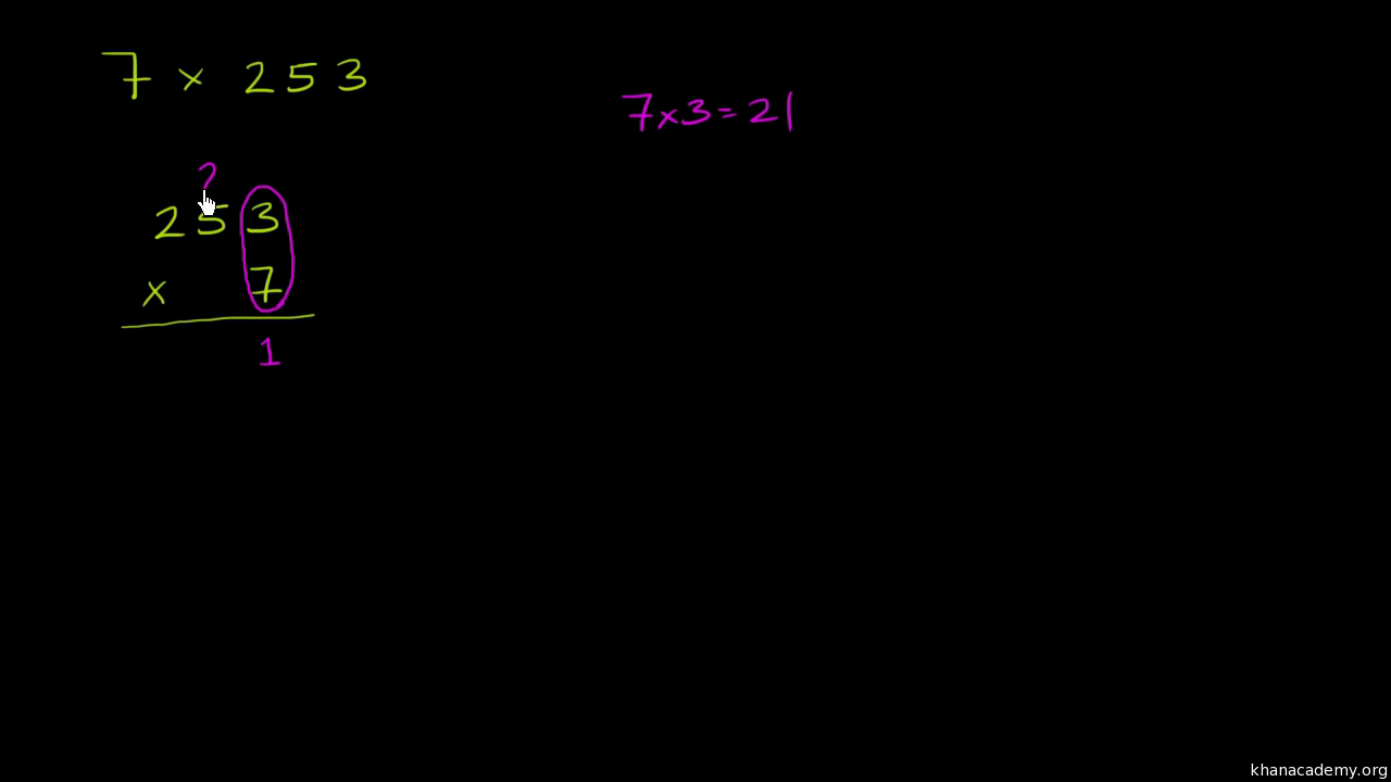 Multiplying 3 Digit By 1 Digit Regrouping Video Khan Academy