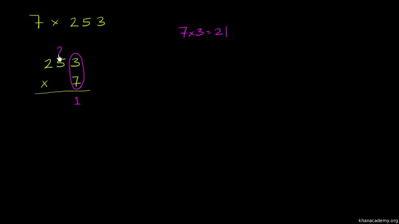 worksheet Two Digit Multiplication multiplying 2 digit numbers video khan academy