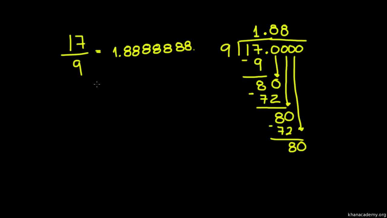 Convertir fracciones a decimales (practica) | Khan Academy