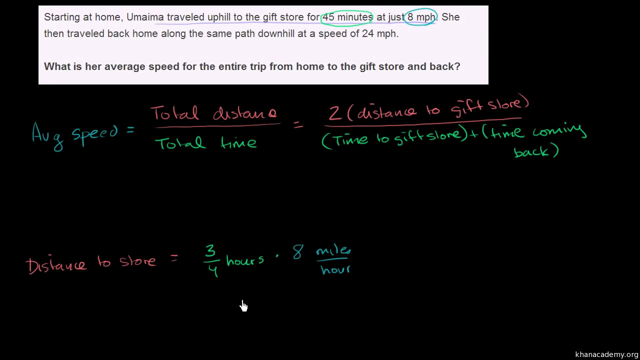 Multiple Rates Word Problem Video Khan Academy