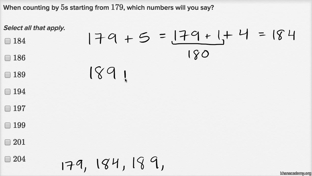 counting by 10s video skip counting khan academy