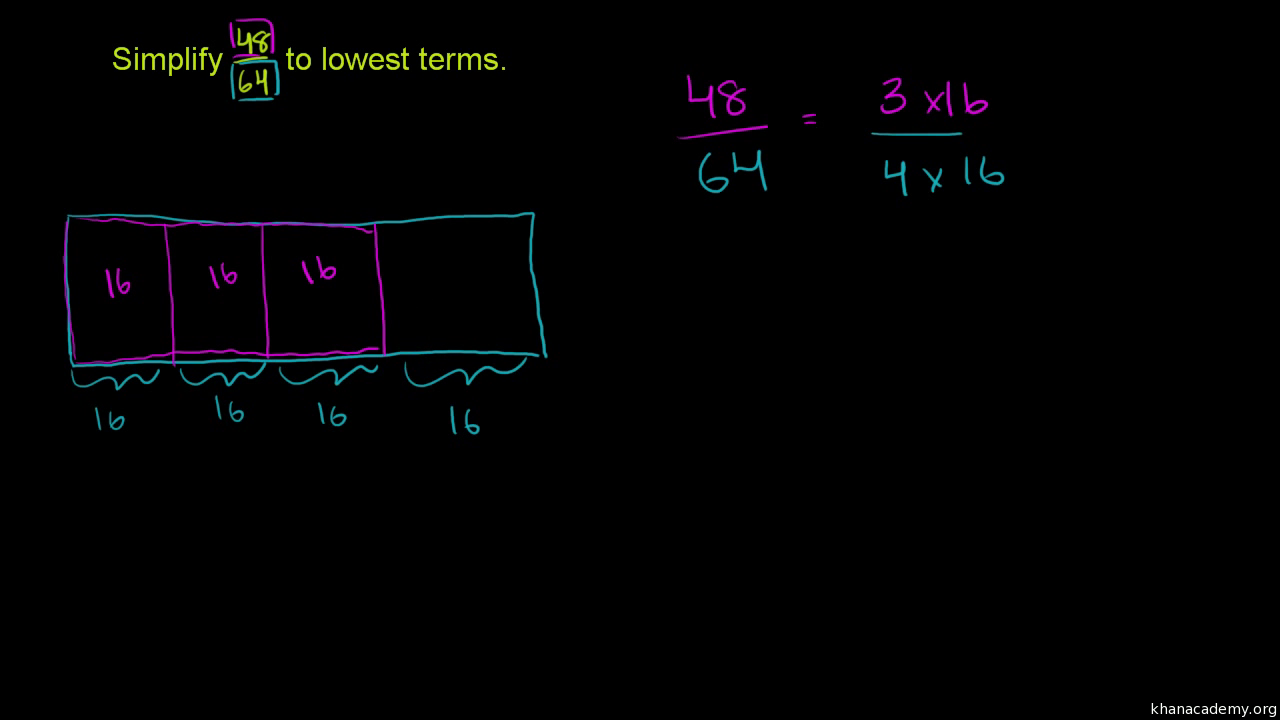 Simplify fractions (practice) | Fractions | Khan Academy