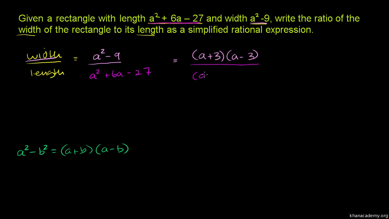 Simplifying rational expressions (advanced) (article) | Khan Academy