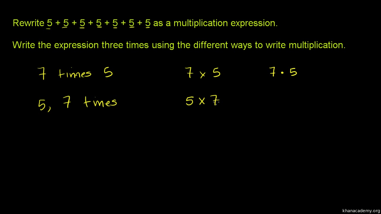 Ways to represent multiplication video khan academy gamestrikefo Image collections