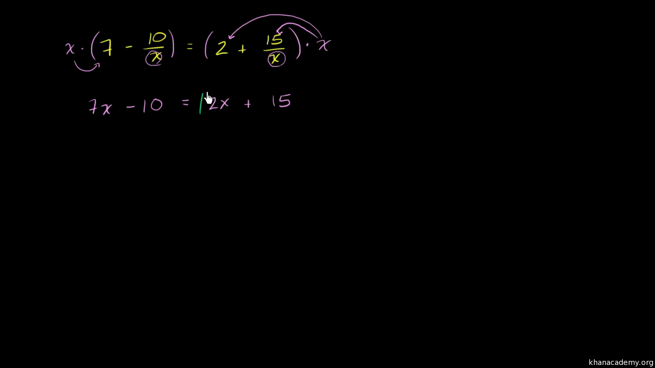 Equation with the variable in the denominator video khan academy buycottarizona Gallery