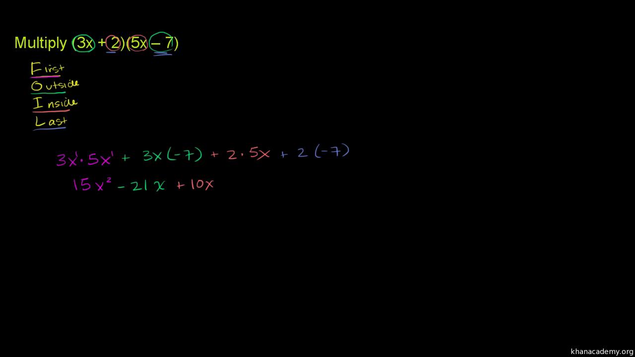Binome mit Polynomen multiplizieren (Übung) | Khan Academy