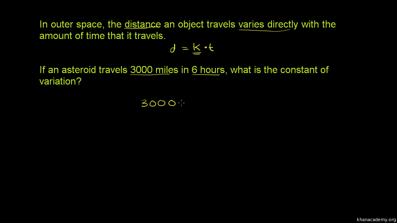 Worksheets Direct And Inverse Variation Word Problems Worksheet With Answers direct variation word problem space travel video khan academy