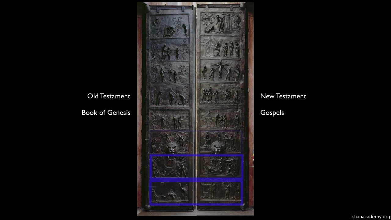 Bronze doors Saint Michaelu0027s Hildesheim commissioned by Bishop Bernward 1015 (video) | Khan Academy & Bronze doors Saint Michaelu0027s Hildesheim commissioned by Bishop ...