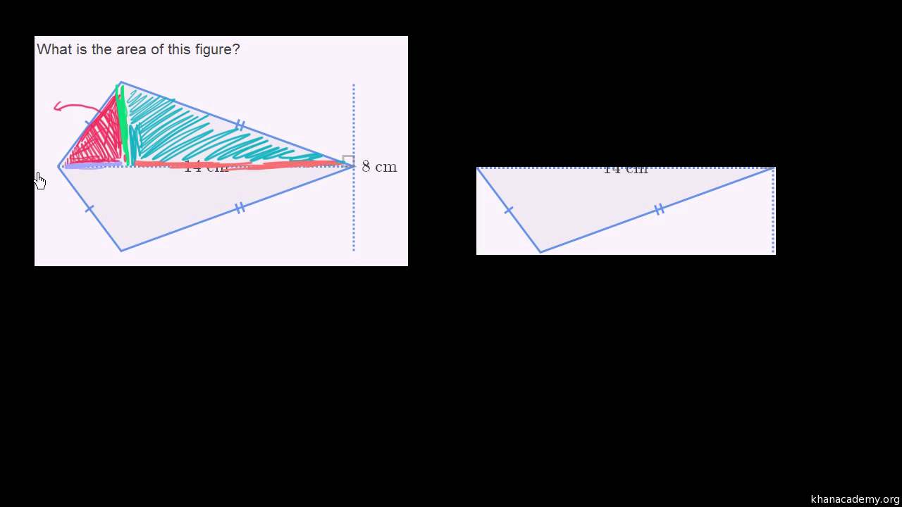 area of trapezoids video khan academy