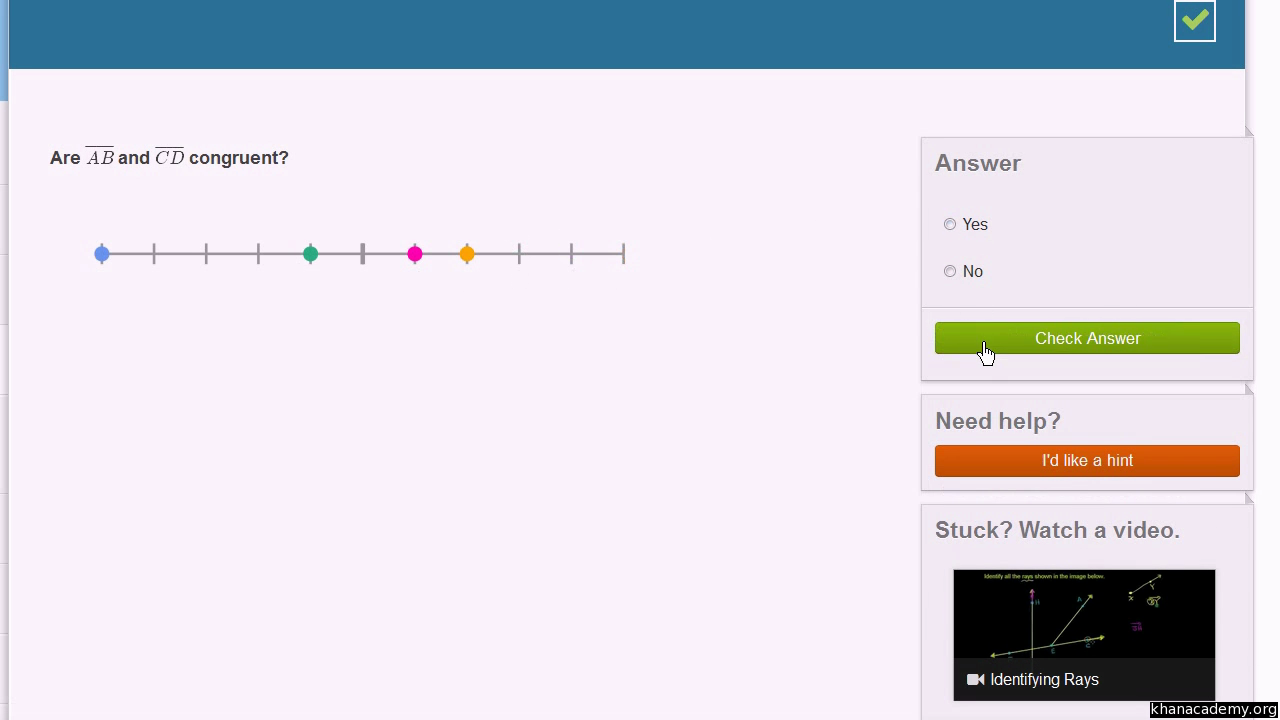 Congruent Line Segments Video Lines Khan Academy