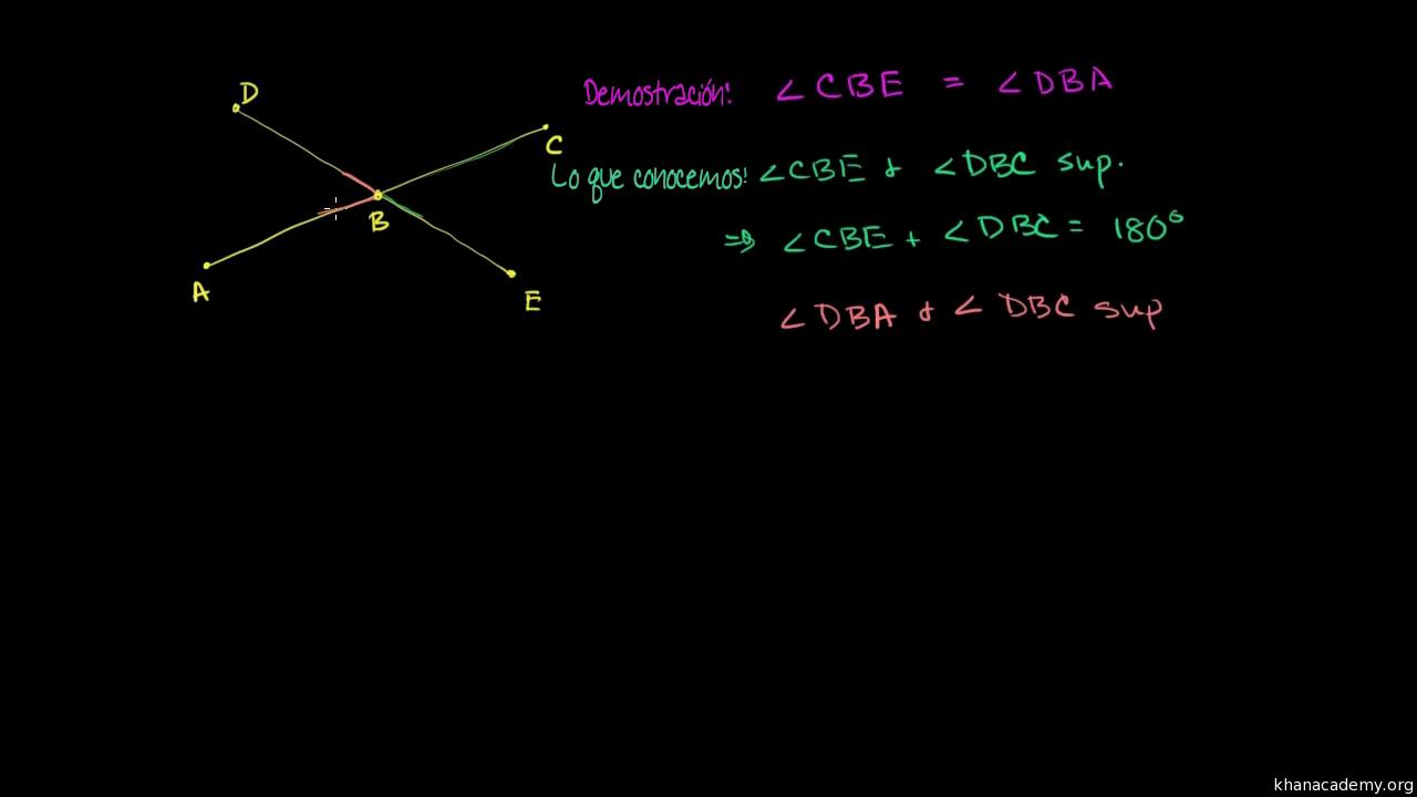 Demostración de que los ángulos opuestos por el vértice son ...
