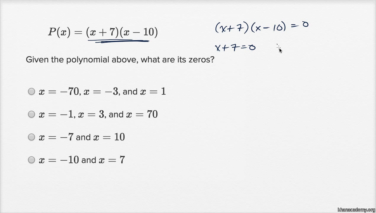 Worksheets Operations With Polynomials Worksheet operations with polynomials basic example video khan academy