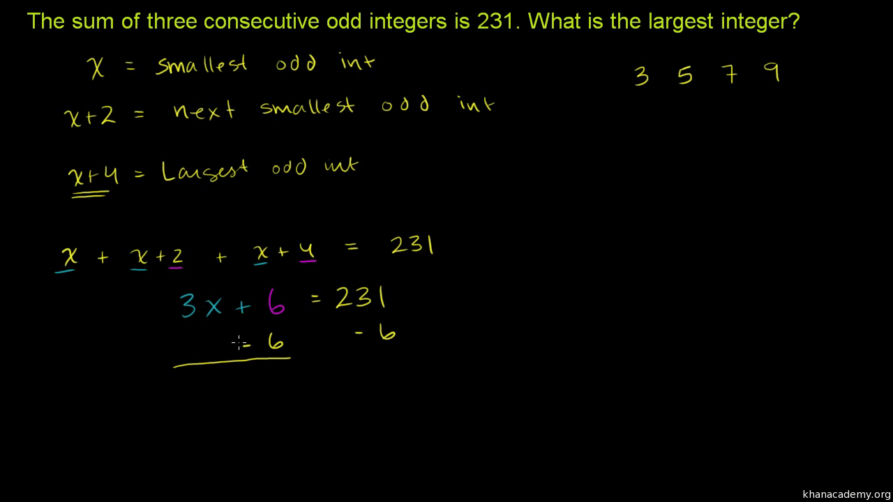 worksheet Consecutive Integer Problems Worksheet sums of consecutive integers video khan academy
